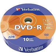 VERBATIM DVD-R AZO 4.7GB, 16x, wrap 10 ks - Médium