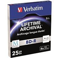 VERBATIM M-DISC BD-R SL 25 GB, 4× slim case 3 ks - Médium
