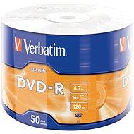VERBATIM DVD-R DataLife 4,7 GB, 16×, wrap 50 ks - Médium