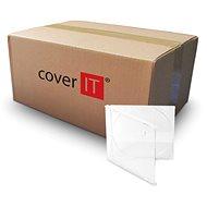 COVER IT box:1 CD 10 mm jewel box + tray číry – kartón 200 ks - Obal na CD/DVD