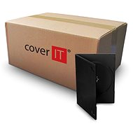 Krabička na 1ks, černá, 9mm - Obal na CD/DVD