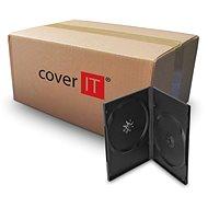 Krabička na 2ks, černá, 14mm - Obal na CD/DVD