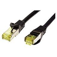 OEM S/FTP patchkabel Cat 7, s konektormi RJ45, LSOH, 1 m, čierny - Sieťový kábel