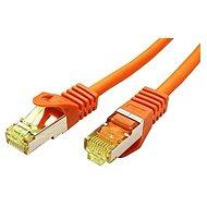 OEM S/FTP patchkabel Cat 7, s konektormi RJ45, LSOH, 1 m, oranžový - Sieťový kábel