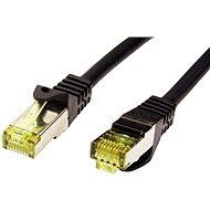OEM S/FTP patchkabel Cat 7, s konektormi RJ45, LSOH, 10 m, čierny