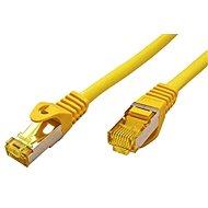 OEM S/FTP patchkabel Cat 7, s konektory RJ45, LSOH, 25m, žlutý