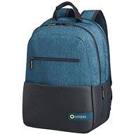 "American Tourister CITY DRIFT LAPTOP BACKPACK 15.6"" BLACK/BLUE - Batoh na notebook"