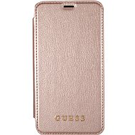 Guess Iridescent Book pre Apple iPhone X Rose Gold
