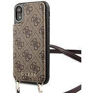 Guess 4G Crossbody Cardslot pre iPhone XR Brown - Kryt na mobil