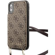 Guess 4G Crossbody Cardslot puzdro na iPhone X/XS Brown - Kryt na mobil