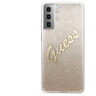 Kryt na mobil Guess TPU Vintage zadný Kryt na Samsung Galaxy S21+ Gradient Gold - Kryt na mobil