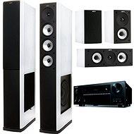 ONKYO TX-NR656 čierna + Jamo S 628 HCS biela