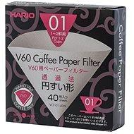 Hario papierové filtre V60-01 40 ks - Kávové filtre