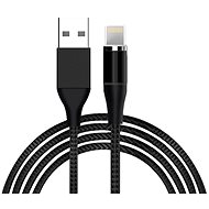 Hishell 4in1 Magnetic Data & Charging Cable (2× USB-C + Lightning + Micro USB) čierny