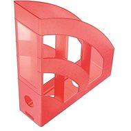 HELIT Economy 75 mm priesvitný červený - Stojan na časopisy