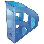 HELIT Economy 75 mm priesvitný modrý - Stojan na časopisy