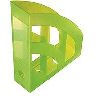HELIT Economy 75 mm priesvitný zelený - Stojan na časopisy