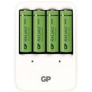 GP PB420 + 4AA 2500 mAh - Nabíjačka batérií