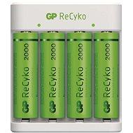 GP Eco E411 + 4× AA ReCyko 2000 - Nabíjačka batérií