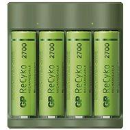 GP Everyday B421 + 4× AA ReCyko 2700 + USB - Nabíjačka batérií