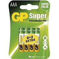 GP Super Alkaline LR03 (AAA) 6 + 2 ks v blistri - Jednorazová batéria