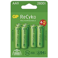 GP ReCyko 2700 AA (HR6), 6 ks - Nabíjateľná batéria