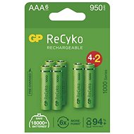 Nabíjacia batéria GP ReCyko 1000 AAA (HR03), 6 ks - Nabíjateľná batéria