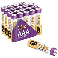 GP Alkalická batéria GP Extra AAA (LR03), 20 ks