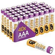 Jednorazová batéria GP Alkalická batéria GP Extra AAA (LR03), 40 ks