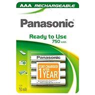 Panasonic Ready to Use AAA HHR-4MVE/4BC 750 mAh 3 + 1 ZADARMO - Nabíjacia batéria