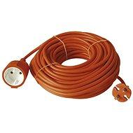 Emos Predlžovací dvojžilový kábel 20 m, oranžový