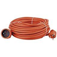 Predlžovací kábel Emos Predlžovací kábel 30 m, oranžový - Prodlužovací kabel