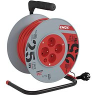 Emos PVC predlžovací kábel na bubne – 4 zásuvky 25 m - Napájací kábel