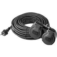 EMOS Predlžovací kábel gumový 15 m čierny