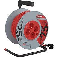 Predlžovací kábel EMOS PVC kábel na bubne s vypínačom – 4 zásuvky, 25 m, 1,5 mm2 - Prodlužovací kabel