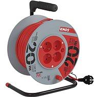 Predlžovací kábel EMOS PVC predlžovací kábel na bubne – 4 zásuvky, 20 m, 1 mm2 - Prodlužovací kabel