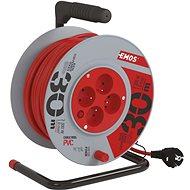 Predlžovací kábel EMOS PVC predlžovací kábel na bubne – 4 zásuvky, 30 m, 1 mm2 - Prodlužovací kabel