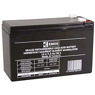 EMOS Bezúdržbový olovený akumulátor 12 V/7,2 Ah, faston 6,3 mm - Nabíjateľná batéria