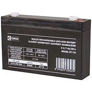 EMOS Bezúdržbový olovený akumulátor 6 V/7 Ah, faston 4,7 mm - Nabíjateľná batéria
