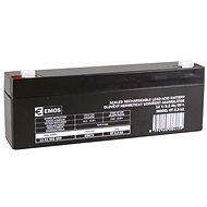 EMOS Bezúdržbový olovený akumulátor 12 V/2,2 Ah, faston 4,7 mm - Nabíjateľná batéria