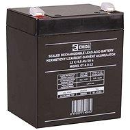 EMOS Bezúdržbový olovený akumulátor 12 V/4,5 Ah, faston 4,7 mm - Nabíjateľná batéria