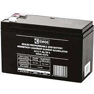 EMOS Bezúdržbový olověný akumulátor 12 V/7 Ah, faston 4,7 mm - Nabíjateľná batéria