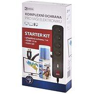 EMOS Starter kit  – prepäťová ochrana, čistiaca sada, HDMI