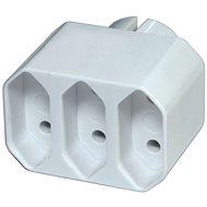 EMOS Rozbočovacia zásuvka 3× plochá, biela - Zásuvka