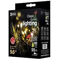 EMOS LED vánoční řetěz, 50m, teplá bílá, časovač - Vianočná reťaz
