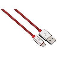 Hama Color Line USB A - USB micro B, 1 m, červený - Dátový kábel