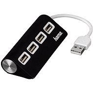 Hama USB 2.0 4 port čierny - USB Hub