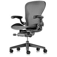 Herman Miller Aeron, veľkosť C, pre tvrdé podlahy – čierna - Kancelárska stolička