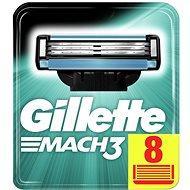 GILLETTE Mach3 náhradné hlavice 8 ks - Pánske náhradné hlavice
