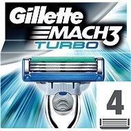 GILLETTE Mach3 Turbo Aloe náhradné hlavice 4 ks - Pánske náhradné hlavice